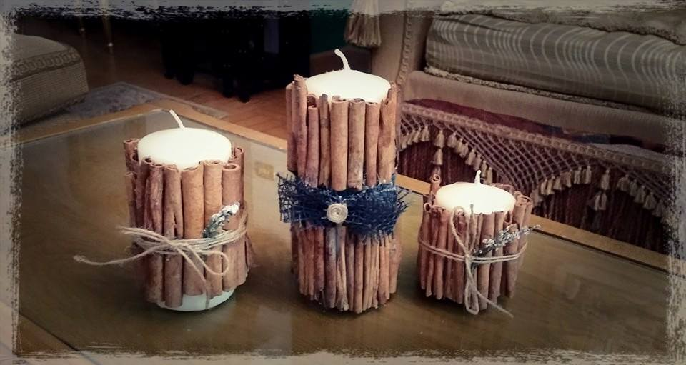 How to make candles on sticks