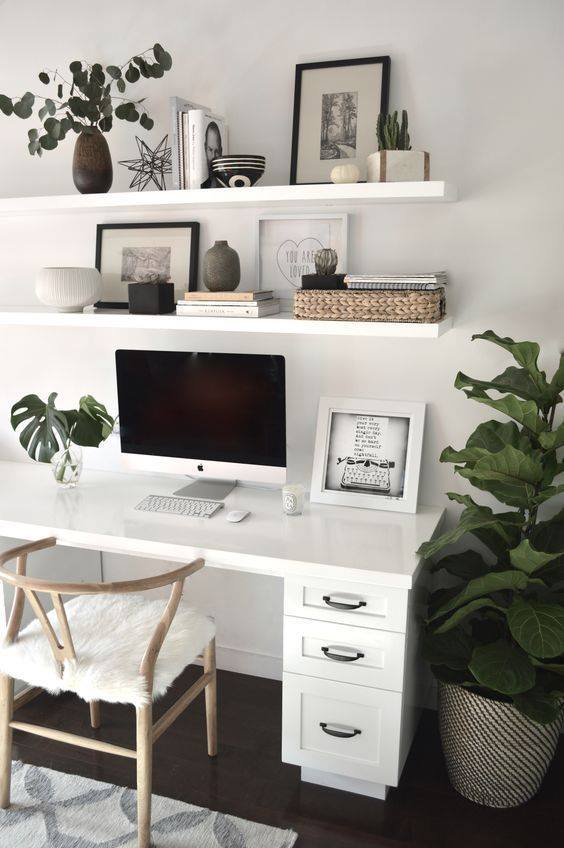 organize using shelves