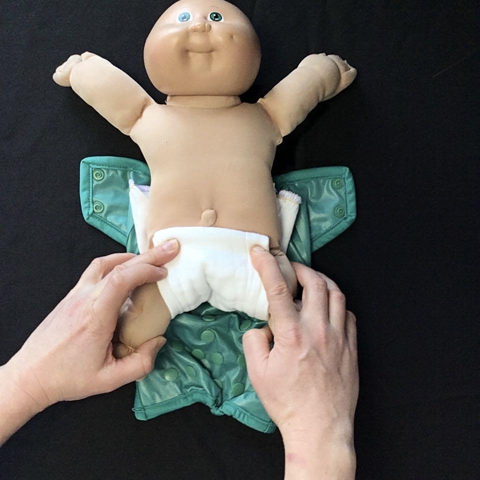 How to fold a cloth diaper