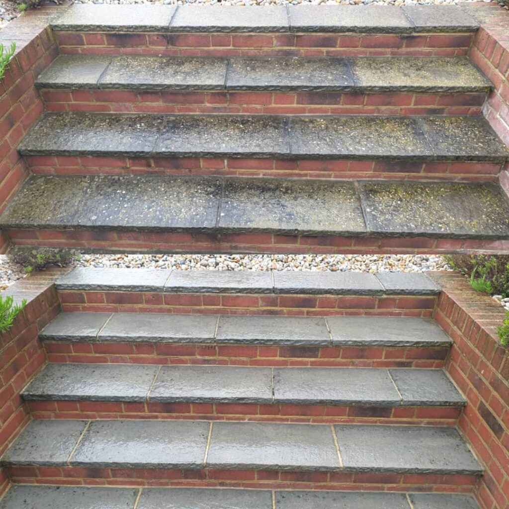 How to clean the steps